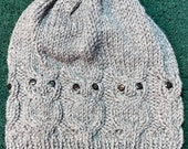 Owl Knit Slouchy Hat