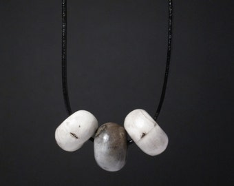 Smoke Fired Ceramic 'Twiddle' Necklace