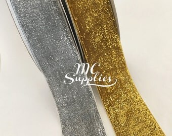 Glitter ribbon,velvet ribbon,fabric ribbon,craft ribbon,ribbon for bows,ribbon by the yard,ribbon for crafts,scrapbooking ribbon.
