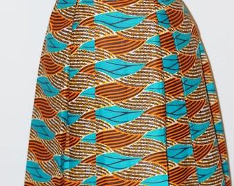 Effay high-waisted African print skirt