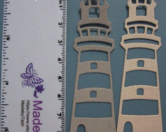Set of 2 Lighthouse die cuts