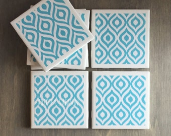 Coasters, Home Decor, For the Home, Set of 4 Design Coasters, Wedding Gift, Wedding Favor