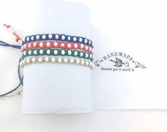 4pc Thin White Beaded Hemp Bracelets Handmade, Hemp Bracelet, Adjustable Hemp Bracelet, Beach  Bracelet, Hemp Jewelry, Bracelet, Boho, Hemp