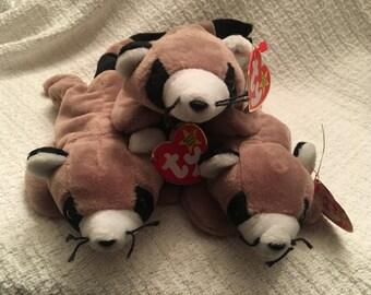 Beanie Baby, Ty Beanie Baby, Ringo, Raccoon Plush, Raccoon Beanie Baby, Ty Raccoons, Ty Babies, Raccoons, Beanie Baby Raccoon