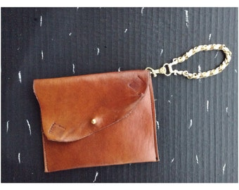 Soft Leather Clutch With removable Wrist Band