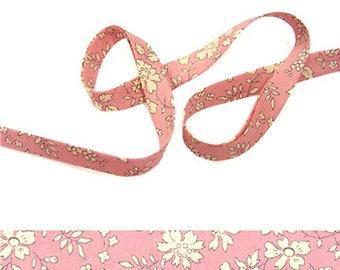 pink Capel R Liberty bias binding 1x Yard, 10mm wide, Liberty fabric, bias binding UK, sewing supplies, jewellery making materials