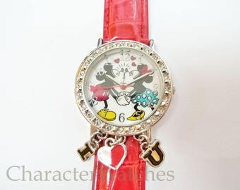 Disney Mickey & Minnie Mouse 1990's Quartz Watch