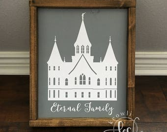 Provo City Center Temple wood sign, Ready to Ship, 10.75x13