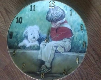 Boy And His Dog 8 1/2 Inch Clock -
