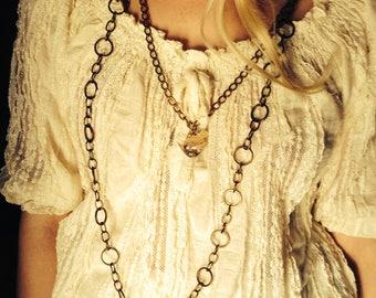 dahlia necklace/bridal jewelry/wedding/avant garde/boho necklace/romantic necklace/pearl necklace/multi strand necklace/bohemian fashion/