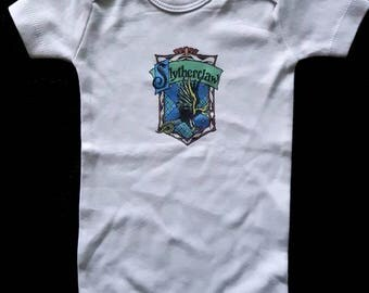 Slytherclaw Harry Potter Inspired Cross-House Crest Baby Onesie