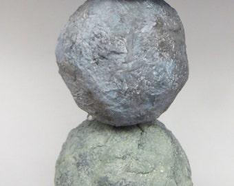 Ceramic cairn totem