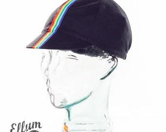 Rainbow Roadie cycling cap