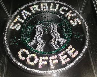 Starbucks Coffee - Laser etched/Rhinestone Embellished Acrylic Organizer