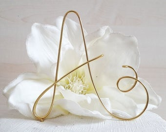 Custom initial cake topper, monogram wedding cake topper, wire cake topper, letter baptism cake topper, birthday decoration