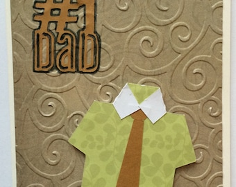 Father's Day card, embossed, Cricut cut