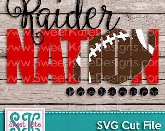 Raider Nation SVG Knockout Football Cricut Silhouette Sports JPG PNG Heat Transfer Vinyl (htv) Scrapbook Die Cut Sweet Kate Designs