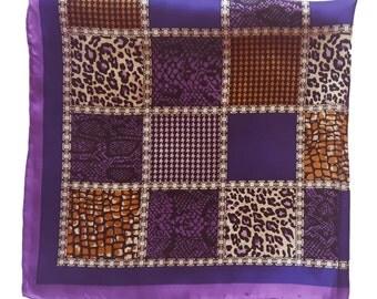 Vintage small silk scarf