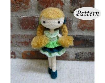 PIA - Amigurumi Pattern Crochet Doll Pattern - Tutorial - PDF - Plush Doll Girl