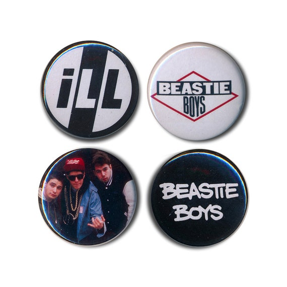 2 beastie boys buttons pin badges license to ill 25mm 1inch. Black Bedroom Furniture Sets. Home Design Ideas