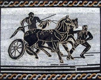 Ancient Greek Scene Mosaic