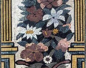 Jasmine and Daisies Rectangular Mosaic