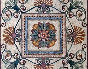 Floral Mosaic Art Panel - Cassia