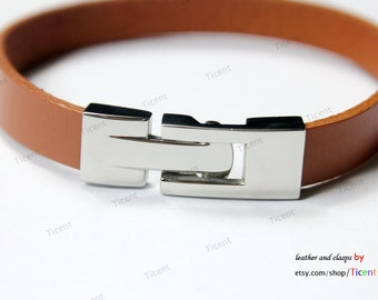 12mmx3mm Hole Stainless Steel Clasp For Flat Leather MT661