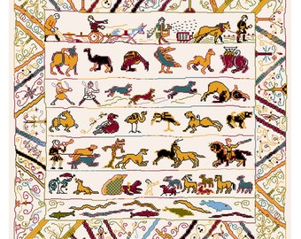 Cross stitch kit - Animals from the Bayeux embroidery