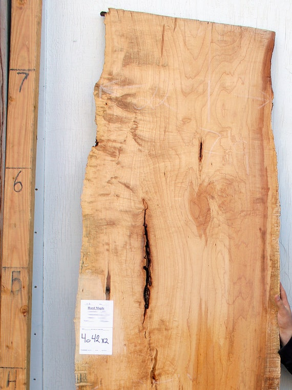 Blister Maple Wood Slab Natural Edge Curly Figure Wide