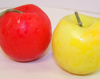 Wholesale Lot of 50 Apple Candles Red, Yellow, Green - Handmade in Germany
