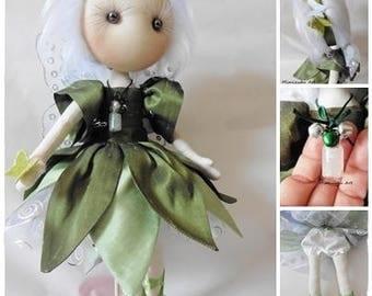 Hada verde, Green fairy, muñeca soft, soft doll