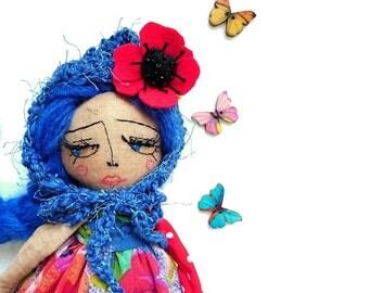 Pixie Doll | Fabric Doll | Best Gift for Girl | OOAK Doll | Heirloom Doll | Rag Doll |