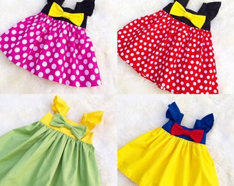 Girls princess dresses, girls prented play princess dress, Birthday prntend princess play, Brithday ourtfit,girls Vacation dresses, gift