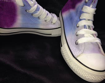 Girls festival style canvas boots. Purple. Size 12.5