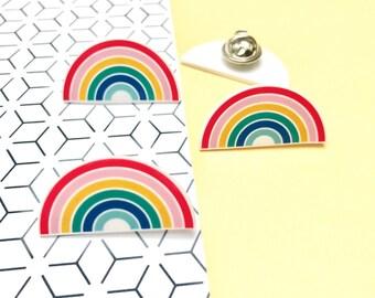RAINBOW - Jewellery - Illustration - shrink plastic (Pin / insignia)