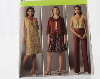 Misses Pants, Skirt, Jacket Dress and Top Pattern, Uncut Sewing Pattern, Simplicity 2570, Size 14-22