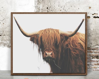 Buffalo print, bison print nursery, digital print, nursery, boys room wall art