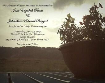 Custom Nature Wedding Invitation
