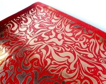 Handmade Ceramic Platter ,Decorative Platter , Serving Tray , Ceramic Tray ,Christmas,Holiday Gift,Serving Platter,Hostess Gift,Wedding Gif