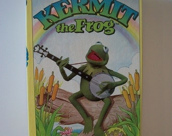 Terrific Vintage Muppets Kermit the Frog Colorforms 1980 - Unused #643