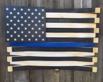 Wine Barrel Wall Decor rustic thin blue line wine barrel wall decor thin blue line