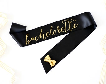 Bachelorette Sash in Font #1 - Bachelorette Party - Bride Gift - Bride Sash - Bridal Shower - Bachelorette Accessory