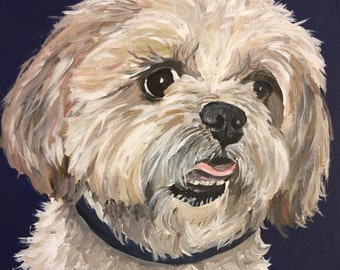 Shih Tzu  art print from original painting, Shih Tzu art print