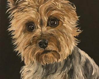 Yorkie art print, Yorkshire Terrier Prints, Yorkie Prints, Yorkie Dog art print from original Yorkshire terrier painting