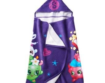 SHOPKINS Shopaholic hooded bath towel wrap - Personalized Beach Towel