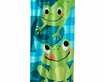 Frog Frogs Beach Towel Personalized Beach Towel