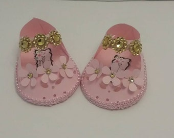 10 pc baby paper shoes favor box, baby shower favor box.