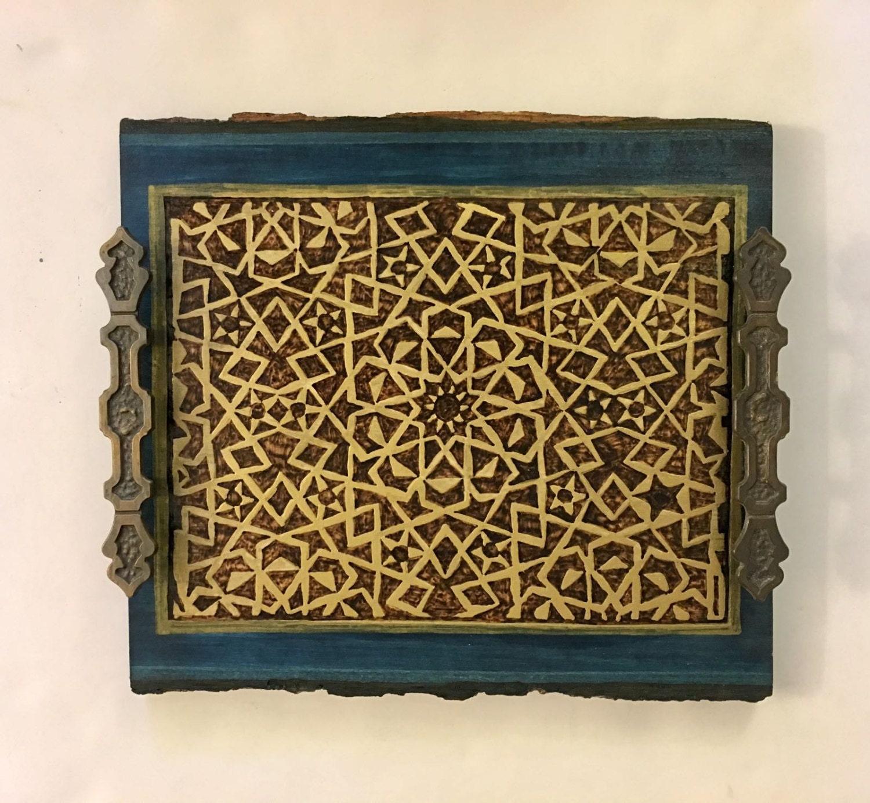 Wooden Old World Decorative Tray Coaster tray Coffee table tray