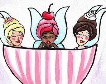 Sundae Fairy Fine Art Print